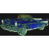 CHEVROLET 1957 COVERTIBLE DK BLUE PIN