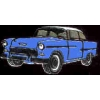 CHEVROLET HARDTOP 1955 BLUE PIN