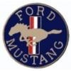 FORD MUSTANG PIN ROUND LOGO BLUE MUSTANG PIN