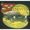 CHEVROLET 57 CHEVY'S NEVER DIE BLACK PIN