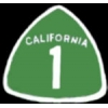 CALIFORNIA ROUTE 1 SIGN PIN