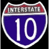 INTERSTATE 10 SIGN PIN