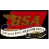BSA MOTORCYCLE WORLDS MOST POPULAR BIKE PIN
