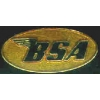 BSA MOTORCYCLE OVAL GOLD PIN