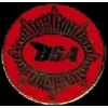 BSA MOTORCYCLE RED ROUND LOGO PIN