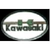 KAWASAKI PIN MOTORCYCLE WHITE OVAL KAWASAKI PIN