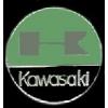 KAWASAKI PIN MOTORCYCLE ROUND GREEN KAWASAKI PIN