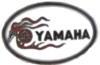 YAMAHA PIN MOTORCYCLE WHITE OVAL YAMAHA LAPEL PIN OR HAT PIN