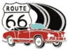 KARMANN GHIA PIN ROUTE 66 PIN RED CONVERTIBLE PIN