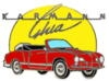 KARMANN GHIA PIN RED CONVERTIBLE PIN