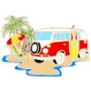 VAN PIN SUMMER SURFIN BEACH FUN MICROBUS PIN