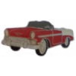 CHEVROLET 1956 PIN RED CHEVY CONVERTIBLE PIN