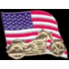USA FLAG MOTORCYLE PIN UNITED STATES MOTORCYCLE PIN