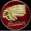 INDIAN MOTORCYCLE PIN LOGO LARGE ROUND PIN
