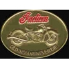 INDIAN MOTORCYCLE PIN OLD INDIANS NEVER DIE BRONZE PIN