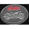 INDIAN MOTORCYCLE PIN OLD INDIANS NEVER DIE ANTQ SILVER PIN
