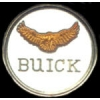 BUICK ROUND WITH BIRD PIN