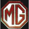 MG CAR LOGO RED PIN