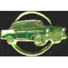 CHEVROLET 1956 CHEVY CAR CIRCLE GREEN PIN