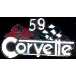 CHEVROLET CORVETTE 1959 YEAR LOGO PIN
