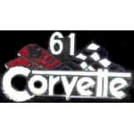 CHEVROLET CORVETTE 1961 YEAR LOGO PIN