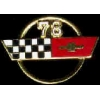 CHEVROLET CORVETTE 1978 YEAR LOGO PIN