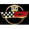 CHEVROLET CORVETTE 1980 YEAR LOGO PIN