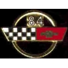 CHEVROLET CORVETTE 1984 YEAR LOGO PIN