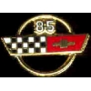 CHEVROLET CORVETTE 1985 YEAR LOGO PIN