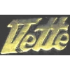 CHEVROLET CORVETTE VETTE GOLD SCRIPT PIN