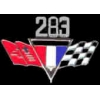 CHEVROLET 283 ENGINE FLAGS LOGO PIN