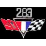CHEVROLET 283 ENGINE FLAGS LOGO PIN