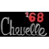 CHEVROLET CHEVELLE 1968 YEAR LOGO PIN
