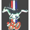 FORD MUSTANG 1980 YEAR LOGO PIN