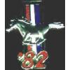 FORD MUSTANG 1982 YEAR LOGO PIN