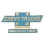 CHEVY TRUCKS BUILT TO STAY TOUGH HAT-LAPEL PIN