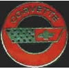 CHEVROLET CORVETTE RED ROUND LOGO PIN