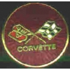 CHEVROLET CORVETTE FLAG ROUND PIN