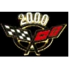 CHEVROLET CORVETTE 2000 YEAR LOGO PIN