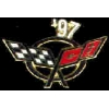 CHEVROLET CORVETTE 1997 YEAR LOGO PIN