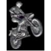 MOTOR CROSS PIN DIRT BIKE RIDER MOTORCYCLE HAT LAPEL PIN