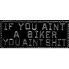 IF YOU AINT A BIKER YOU AINT SHIT BAR PIN