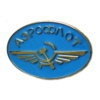 AEROFLOT PIN BLUE OVAL CCCP RUSSIA AIRLINE PIN