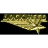LOCKHEED PIN GOLD SCRIPT LOGO LOCKHEED PIN