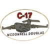 C-17 GLOBEMASTER PIN MCDONNELL DOUGLAS OVAL C17 PIN DX