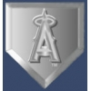ANAHEIM ANGELS PIN HOME PLATE STYLED LOGO DOUBLE PIN