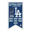 Los Angeles Dodgers 2020 World Series Championship 7X Years Banner Pin
