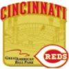 CINCINNATI REDS GREAT AMERICAN BALLPARK STADIUM PIN