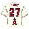 ANAHEIM ANGELS MIKE TROUT HOME JERSEY PIN