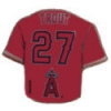 ANAHEIM ANGELS MIKE TROUT RED JERSEY PIN